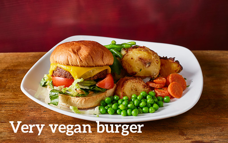 Very vegan burger