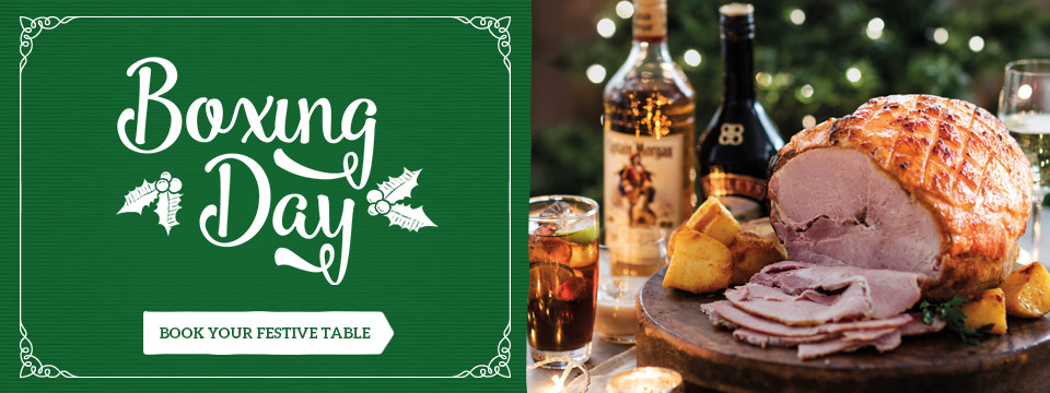 Book your Boxing Day celebration at Toby Carvery Cocket Hat
