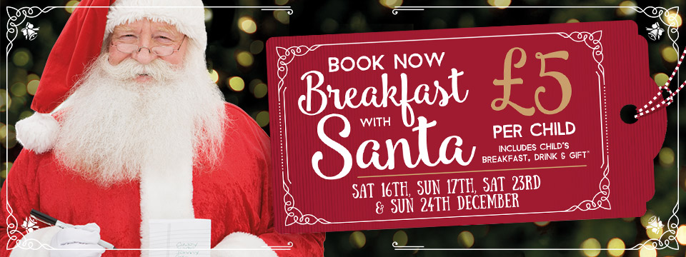 Book your table with Santa