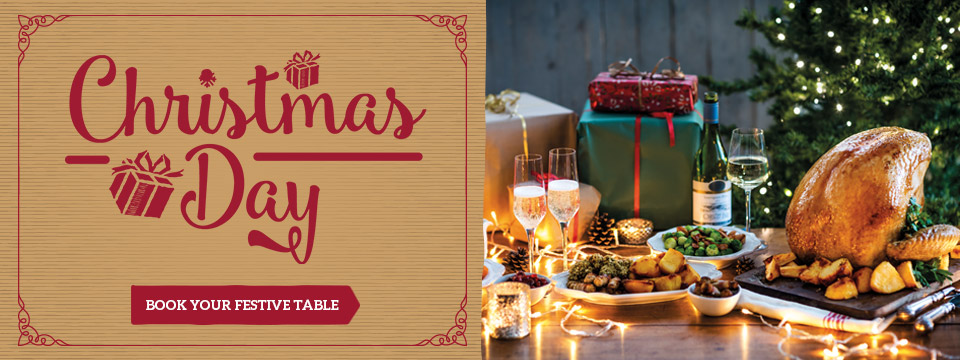 Book your Christmas Day celebration at Toby Carvery Cocket Hat