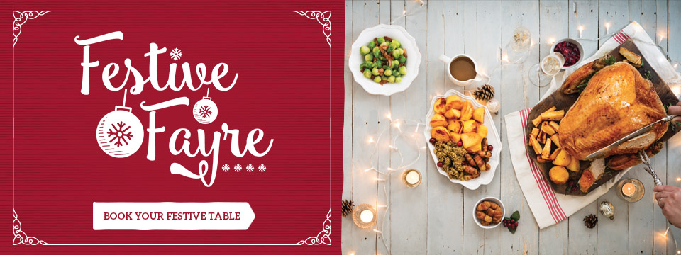 Book you festive celebration at Toby Carvery