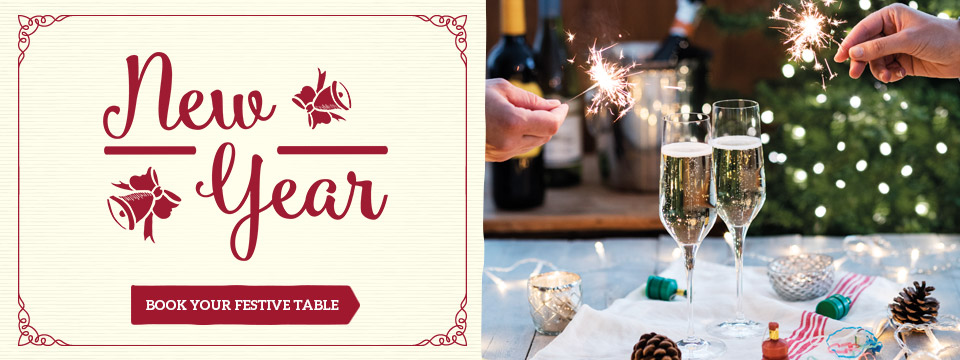 Book your New Year's Day celebration at Toby Carvery Burnt Tree Island