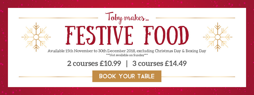 Book your festive celebration at Toby Carvery