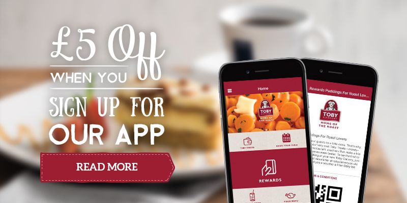 £5 off when you sign up on the Toby App