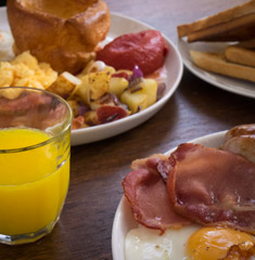 Breakfast menu at the Stoke-on-Trent Toby Carvery