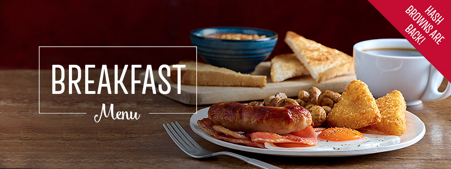 Breakfast at Toby Carvery Worcester West - Book Now