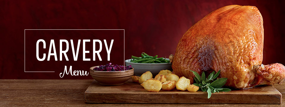 Carvery Menu at Toby Carvery Telford - Book Now