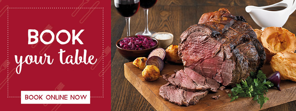 Book Now at Toby Carvery Downlands