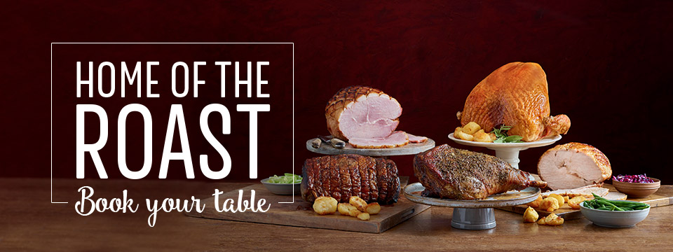 Book Now at Toby Carvery Exeter