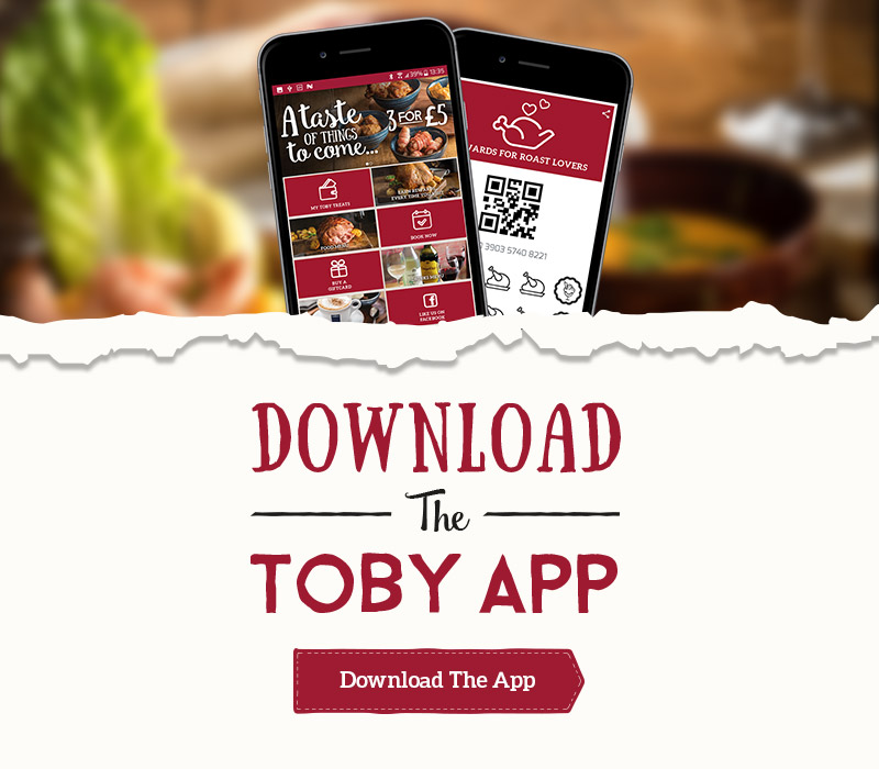 Get the new Toby Carvery App now