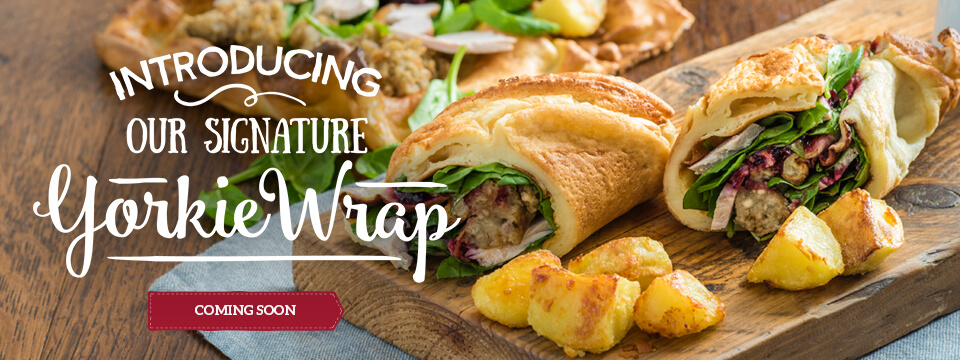 The new Yorkie Wraps at Toby Carvery