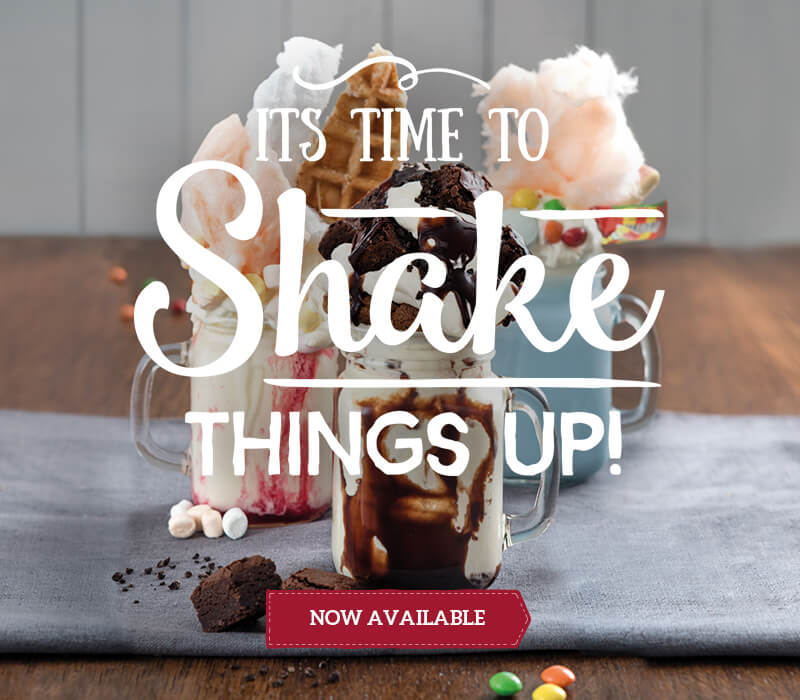Freakshakes now available at Toby Carvery