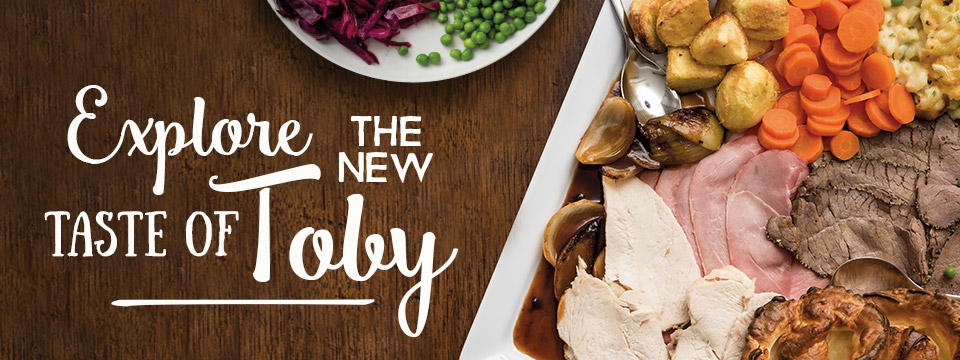 Come and try the new menu at Toby Carvery Streetly