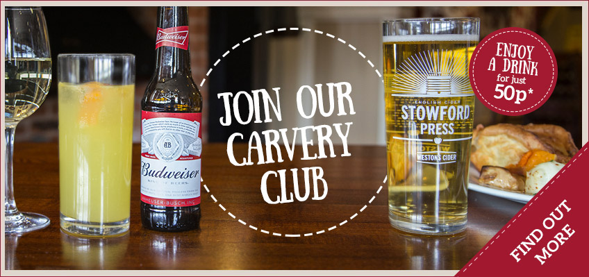 Carvery & selected drink from £6.49 - Find out more