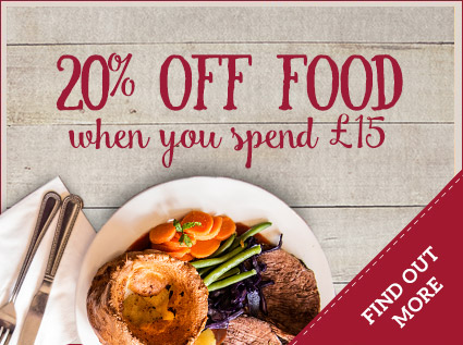 20% off food when you spend £15
