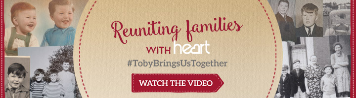 Reuniting families with Heart - #TobyBringsUsTogether - Watch the video