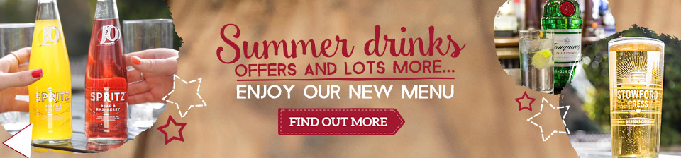 Summer drinks offers and lots more - Enjoy our new menu
