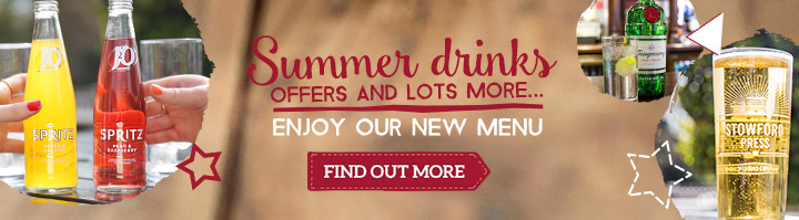 Summer drinks offers and lots more - Enjoy our new menu - Find out more