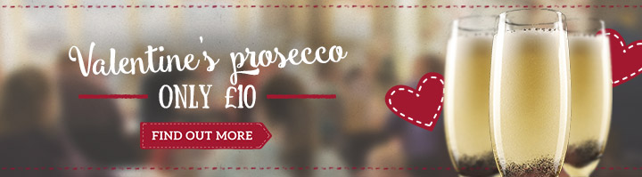 Valentine's prosecco only £10 - Find out more