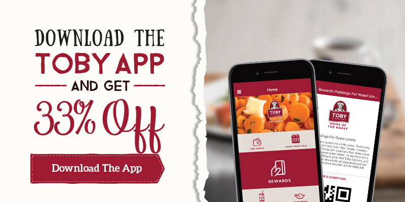 33% off when you download the Toby App
