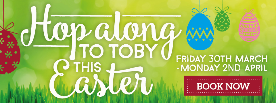 Hop along to Toby Carvery this Easter