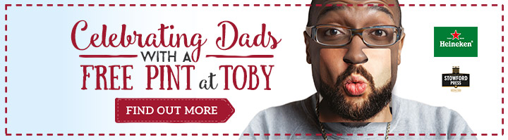 Give Dad a Toby treat on Father's Day