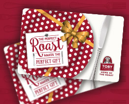 Gift Vouchers for Toby Carvery Endon