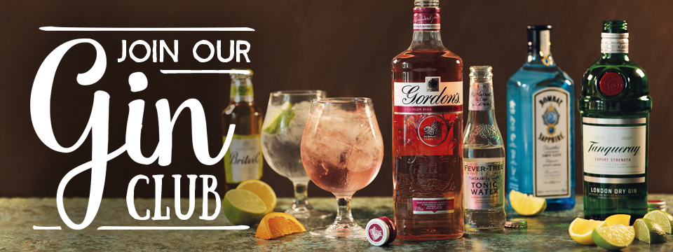 Sign up for Toby Carvery Gin Club