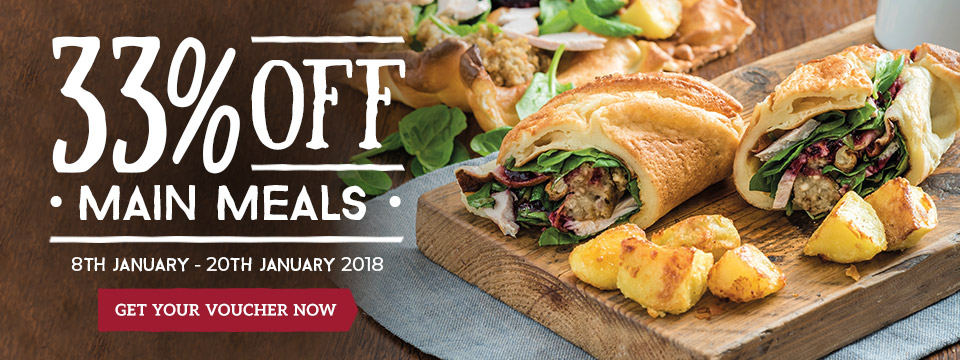 Sign up for 33% off at Toby Carvery Gravesend!