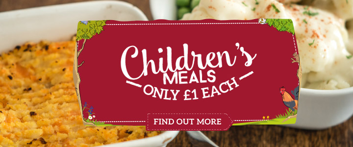 Kids eat for £1 at Toby Carvery