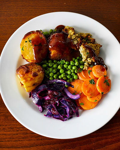 Toby Carvery Vegan dishes