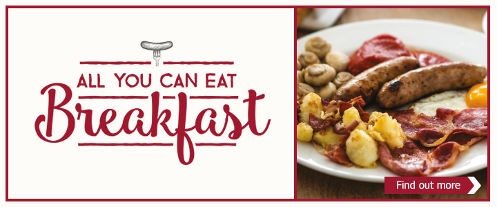 All you can eat breakfast - Find out more