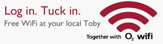 Log in. Tuck in. Free WiFi at your local Toby